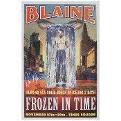 David Blaine Autographed Poster - Frozen In Time