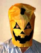 Pumpkin Mask Paper Tear