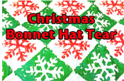 Christmas Bonnet Hat Tear (6-pack)
