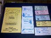 Collectible - 1987 50th Get Together Program and Tickets