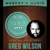 At the Table Live Lecture - Greg Wilson 8/27/2014 - vid DOWNLOAD