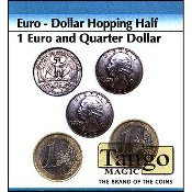 Euro-Dollar Hopping Half (1 Euro and Quarter Dollar) by Tango
