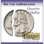 Bite Coin - US Quarter (Traditional With Extra Piece) by Tango