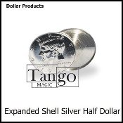 Expanded Shell Silver Half Dollar