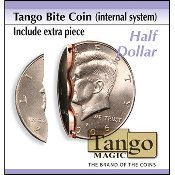 Biting coin Half Dollar internal w/extra piece