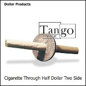 Cigarette Through Half Dollar (Two Sided)