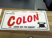 Colon License Plate