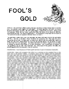 Instant Instruction Download - Fools Gold