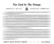 Instant Instruction Download - Card in the Orange