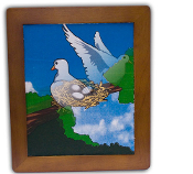 Dove Frame Painting