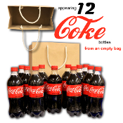 Appearing 12 Coke Bottles from Bag