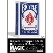 Bicycle Stripper Deck Blue