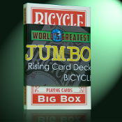 Rising Card Deck, JUMBO Bicycle - Red