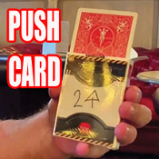 PUSH CARD WITH ORIENTAL THEME