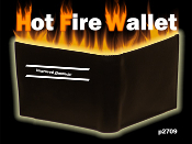 Hot Fire Wallet - Metal Interior